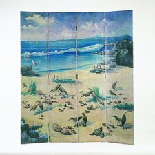 Birds on Sandy Beach Room Divider