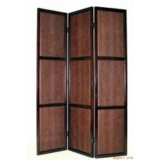 Brown Leather Room Divider