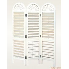 Arch Top Venetian Room Divider in White
