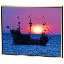 Pirate Ship Limited Edition Framed Canvas - Scott J. Menaul
