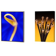 Fiber Optics Explosion and Cable Flowers Limited Edition Framed Canvas - Scott J. Menaul (Set of 2)