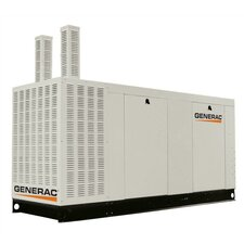 100 Kw Liquid-Cooled Three Phase 120/240 V Natural Gas Standby Generator with Catalytic Converter, and CSA, SCAQMD, and EPA Compliance in Aluminum