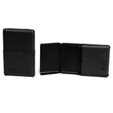 """Trading Cards"" Leather Business Card Case in Black"