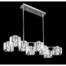 Transparence 8 Light Kitchen Island Pendant