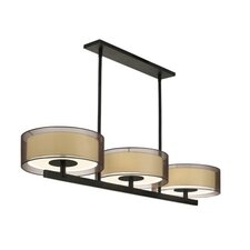 Puri 6 Light Bar Drum Pendant