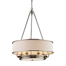 Lureau 6 Light Drum Pendant