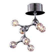 Molecular Collection 7 Light Semi Flush Mount