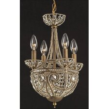 Elizabethan 5 Light Mini Candle Chandelier
