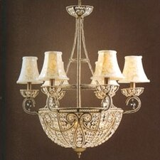Elizabethan Ten Light Chandelier in Dark Bronze with Optional Shade