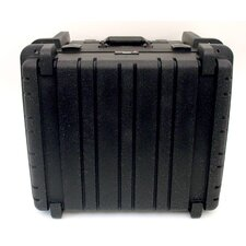 Rotational Molded Tool Case with Wheels and Telescoping Handle in Black: 17.25 x 19.5 x 12.5