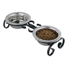 Small Classic Wrought Iron Dog Feeder