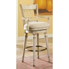 Summerglen Swivel Bar Stool in White