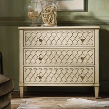 Melange Raised Lattice 3 Drawer Front Chest