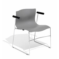 Handkerchief Stacking Arm Chair with Seat Pad