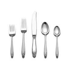 Prelude 45 Piece Flatware Set with Cream Soup Spoon
