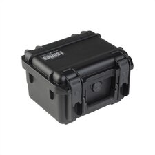 "Small Military Standard Waterproof Case in Black - 9.25"" H  x 7.125"" W x 6.125"" D (inside)"