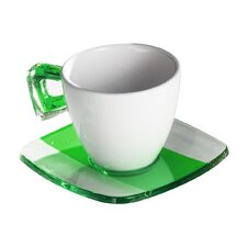 Square Coffee Crystal Teacup