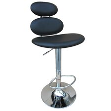 "31"" Swivel Barstool with Gas Lift in Black"