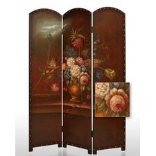 Painted Floral Bouquet Room Divider