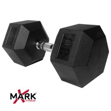 80 lb Rubber Hex Dumbbell