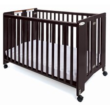"Foundations Full Size HideAway Nursery Folding Fixed Side Crib with 2"" Casters"