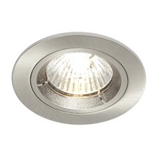 Shield One Light LV Fixed Fire Rated Recessed Downlight in Satin Nickel