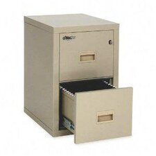 Two Drawer Fire Proof Pin Key Lock Vertical Filing Cabinet