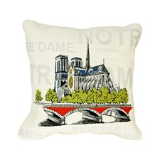 Notre Dame Pop Tapestry Cotton Twill Pillow