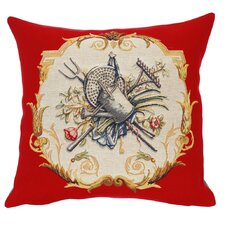 French Tapestry Arrosoir Cotton Pillow