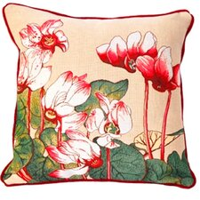 French Tapestry Cyclamen Cotton Pillow