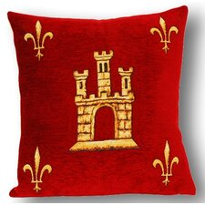 French Tapestry Sainte Chapelle Cotton Pillow