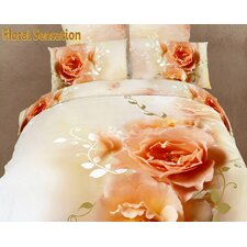 Dolce Mela Floral Sensation 6 Piece Duvet Cover Set