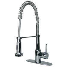 Single Handle Single Hole Cold Water Dispenser Kitchen Faucet with Pull Down Spout