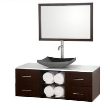 "Abba 48"" Wall-Mounted Bathroom Vanity Set"