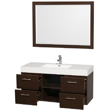 "Stephanie 50"" Single Wall Mounted Vanity Set"