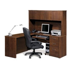 Embassy L-Shaped With Hutch Workstation Kit