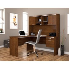 Flare Corner Desk with Hutch