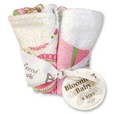 Paisley Park Blooming Bouquet 4 Pack Bib Set