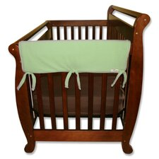 "2 Pack of 27"" Sage Fleece Side Crib Rail Cover"