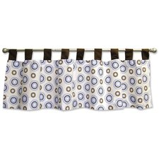 Blueberry Cotton Tab Top Tailored Curtain Valance