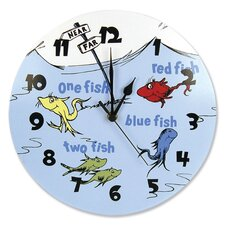 Dr. Seuss 1 Fish 2 Fish Wall Clock