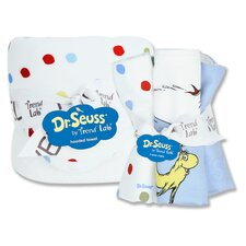 Dr. Seuss Bouquet Hooded Towel and Wash Cloth Set