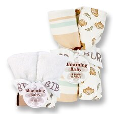 Morgan The Monkey Bib and Burp Cloth Bouquet Set