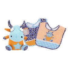 Dreamsicle Bib and Buddy Set
