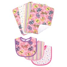 Lola Fox Bouquet  Bib and Burp Cloth Set