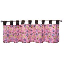 Lola Fox and Friends Cotton Blend Tab Top Tailored Curtain Valance