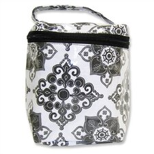 Insulated Bottle Bag in Versailles Black and White
