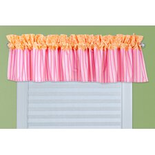 Savannah Cotton Rod Pocket Ruffled Curtain Valance