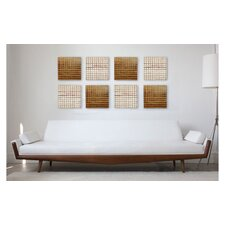 Pura Vida I Off The Grid Teak Panel in Natural with 18kt Gold Grid