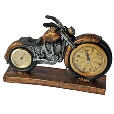 Retro Motorcycle Wall Clock